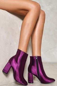 Nasty Gal - Moonlight Mile Satin Boot