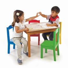 Check Out This Tot Tutors Kidsu0027 Table And Set, Primary Wood Now!