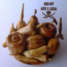 Frutta e ortaggi in legno di ulivo