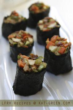 Nori rolls - Low fat raw vegan recipes