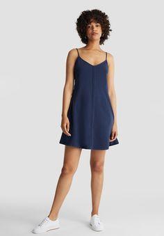 edc by Esprit DYED ACID WASH - Jerseyjurk - navy - Zalando.nl Edc, Navy, Casual, Dresses, Fashion, Gowns, Moda, La Mode, Dress