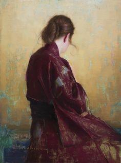 "InSight Gallery Artist: Aaron Westerberg - Title: Jennifer's Kimono, 32"" x 42"", oil"
