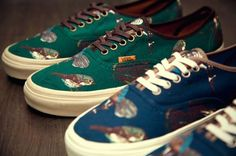 Vans Birds Shoe. I want these so bad!