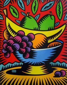 Burton Morris - acetate painting mastercopy