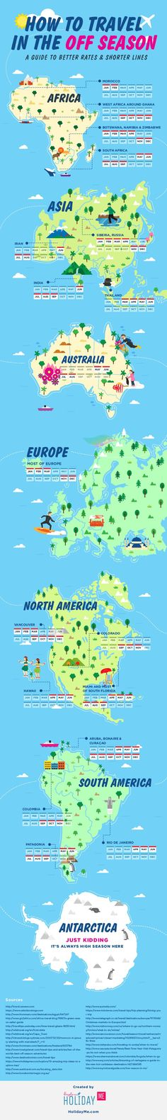 Affordable Vacation Spots: A Global Guide To Off-season Travel Infographic