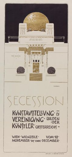 Exhibition posters for the Vienna Secession. Artists inlcude Gustav Klimt, Koloman Moser and Joseph Maria Olbrich. Gustav Klimt, Graphic Design Illustration, Graphic Art, Illustration Art, Glasgow, Koloman Moser, Jugendstil Design, Art Nouveau Poster, Vienna Secession