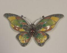 Colgante con mariposas de plata.925 por TheGoldenLoot en Etsy
