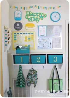 Family Command Center~ love the happy colors