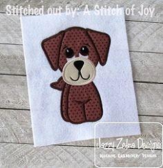Dog 55 Applique - 4 Sizes! | What's New | Machine Embroidery Designs | SWAKembroidery.com Jazzy Zebra Designs