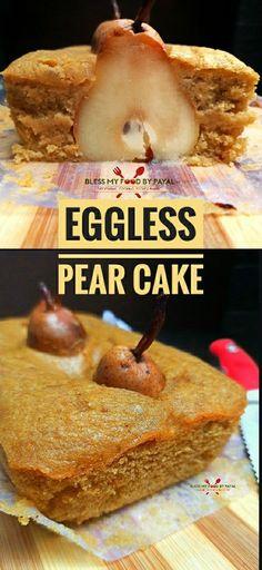 Eggless Recipes, Easy Cake Recipes, Cupcake Recipes, Baking Recipes, Cupcake Cakes, Dessert Recipes, Fruit Recipes, Cupcakes, Fall Desserts