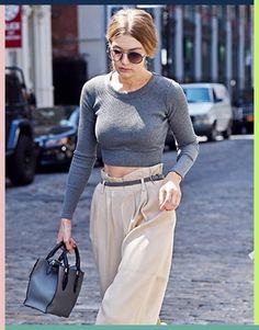 Laufsteg-Trend aufgedröselt: Die Paper Bag Hose auf dem Laufsteg von Tod's (+ an Gigi)