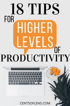 Do you struggle with being productive? Find out how you can achieve higher levels of productivity with these 18 tips today! #productivity #productivitytips #productivityhacks #productivehabits #getstuffdone #lifehacks