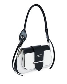 Prada Sidonie Two-Tone Cahier City Bag