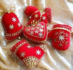 Купить Елочные игрушки «яркий новый год» - ярко-красный, елочные игрушки, елочные украшения