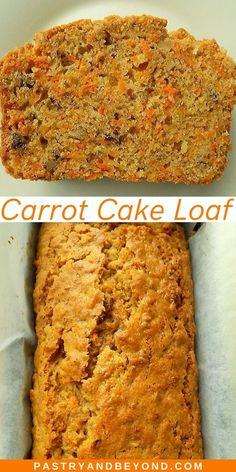 Carrot Cake Bread, Easy Carrot Cake, Moist Carrot Cakes, Carrot Bread Recipe Moist, Simple Carrot Cake Recipe, Sweet Bread Loaf Recipe, Carrot Loaf, Bread Cake, Loaf Cake