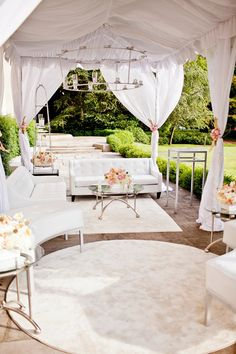 lounge setting....  Amazing look for pre-reception Cocktail Hour!!