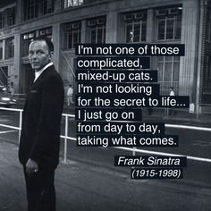Frank Sinatras Quote, Photo By Ted Allan, 1962 alt.