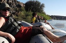 Cruising down the Orange River, South Africa