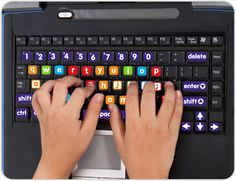 These Learn to Type Stick On Labels are perfect for transforming keyboards into child friendly versions with nice big letters and bright colours. Buy online now for only $9.95  http://www.brightstarkids.com.au/Learn-To-Type-Labels.aspx?p86