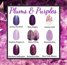 Nail Color Combos, Nail Colors, Plum Color, Plum Purple, Vip Nails, Nail Selection, Manicure Y Pedicure, Manicure Ideas, Nail Ideas