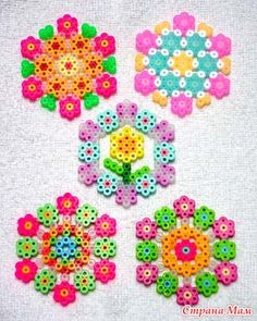 Floral coasters perler beads