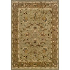Style Haven Berkley / Tan 9'10 x 12'9 Traditional Area Rug