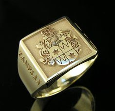 Family Crest Ring14k gold by magichandjewelry on Etsy, $1750.00