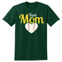 FOREST GREEN Adult HAJBA Team Mom Cotton Short Sleeve T - HAJBA