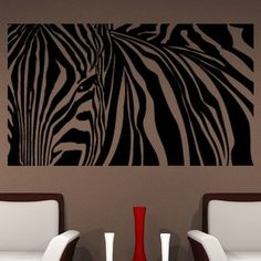 "Style and Apply Zebra Stripes Wall Decal Size: 21"" H x 31"" W, Color: Dark Gray"