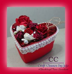 I am proudly presenting you my second Valentine Special today, a heart shaped gift box construc. Valentine Special, Valentine Heart, Paper Trimmer, Stationary Set, Etsy Store, Heart Shapes, Stampin Up, Handmade Items, Paper Crafts