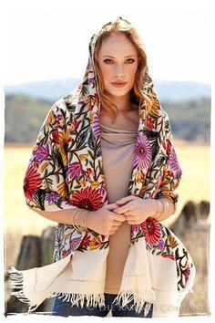 @kashmircompany Beautiful, Colorful Soleil de Noires #Shawl <3