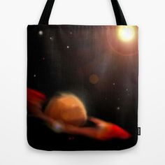 Space & Planet Tote Bag by Stefano Rimoldi - $22.00