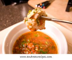 Chicken Pesto Fondue | Andrea Meyers