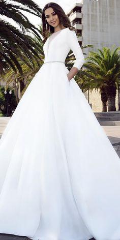 c02d679b43c Rose Porsche · Satin wedding dresses