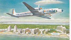 EASTERN Air Lines DC-7B Airplane , 1950s