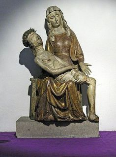15th-century German wood Pietà