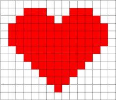 Risultati immagini per pixel art cuore