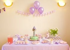 My daughter's 3rd birthday party - Rapunzel, Tangled,