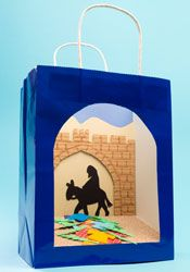 Easter Story Bags- Palm Sunday display