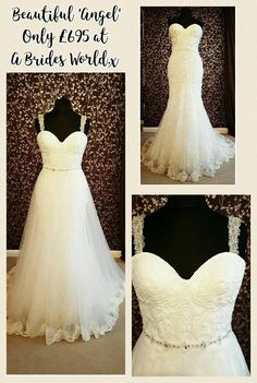 Could our beautiful new Wedding Dress 'Angel' be the perfect bridal gown for you? This stunning dress offers two completely different styles on your wedding day for only £695! The elegant full sweeping skirt can be taken off to reveal a glamourous fitted lace fishtail gown.  Our talented seamstresses can even add delicate beaded straps to give the 'Angel' gown a unique finish that is just for you. 💕