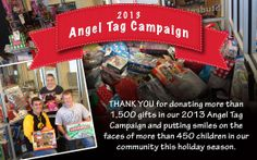 You Kirkwood Eagles are amazing, as always! Thank you for your continued dedication to our annual Angel Tag campaigns. | Click to read about Kirkwood's involvement in Angel Tags since 1997.