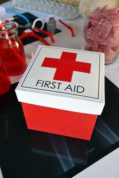 First Aid Kit Party Favour Box