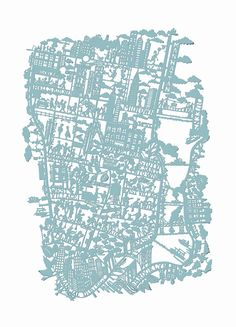 Famille Summerbelle NYC Paper Cut Map Print
