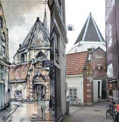 Poortje achteringang Begijnhof, Amsterdam Anton Pieck, Amsterdam Art, House Styles, Kunst