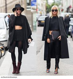 Black Cropped street style