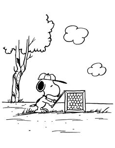 Snoopy setting a trap.