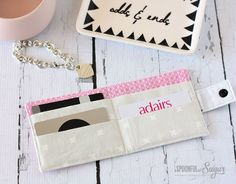 Loyalty Card Wallet Sewing Tutorial by A Spoonful of Sugar  Designs....I want to make this!!