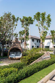 Setthasiri Lam Luk Ka by Tectonix Landscape on Behance Entrance Signage, Entrance Design, Entrance Gates, Gate Design, Landscape Architecture, Architecture Design, Signage Design, Exterior Design, Facade