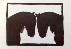 amazing horse silhouettes carved by Heidi Clark