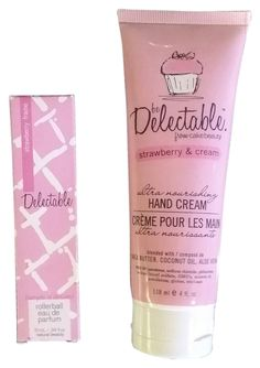 Be Delectable strawberry cream hand cream 4oz and parfum rollon 0.34 oz. $23 free shipping ($30reg) #fragrance #lotion @Kohl's @tradesy